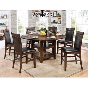 Herbert 7 Piece Counter Height Drop Leaf Dining Set Loon Peak