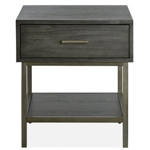 Carver End Table with Storage