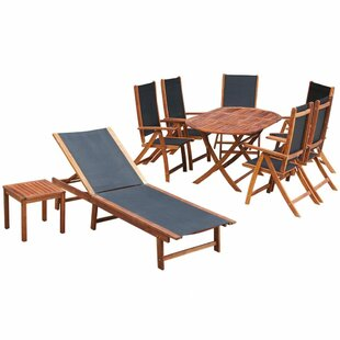 Review Baranowski 7 Seater Dining Set