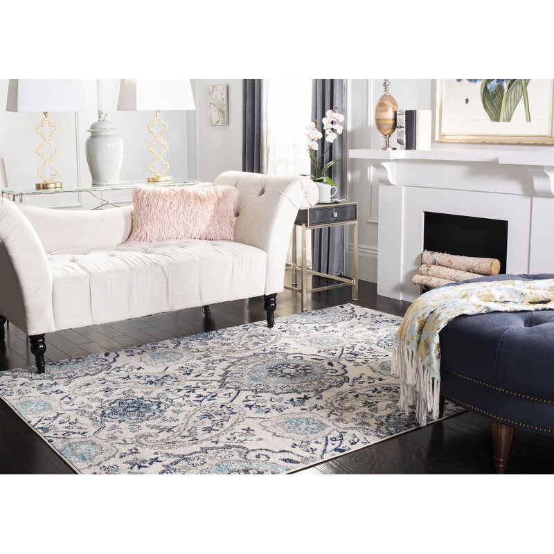 Grieve Light Gray/Cream Area Rug