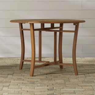 Roseland Folding Wooden Dining Table by Beachcrest Home Spacial Price