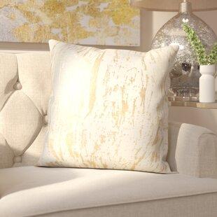 Aldgate Metallic Foil Print Cotton Throw Pillow