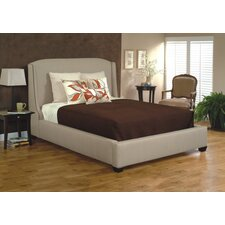 Queen Upholstered Panel Bed by CMI