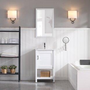 Mattis 20 Wall-Mounted Single Bathroom Vanity Set with Mirror ByGracie Oaks