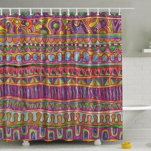 Tribal Print Shower Curtain Wayfair