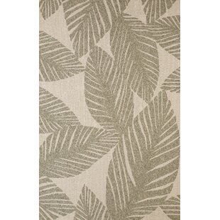 Palm Coast Hand-Woven Gray/Beige Indoor/Outdoor Area Rug