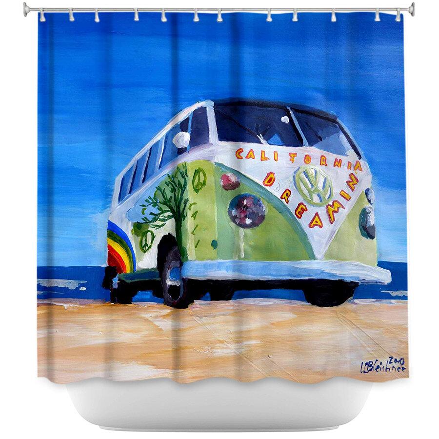 East Urban Home California Dreaming VW Bus Shower Curtain