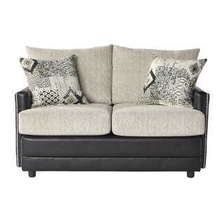 Meachum Ebony Loveseat by House of Hampton Best #1