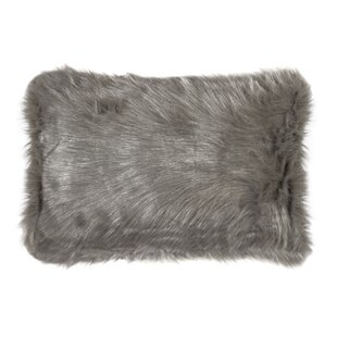 Gaetane Faux Fur Lumbar Pillow