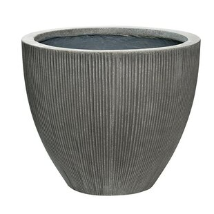 Williston Forge Glen Ellyn Ridged Fiber Stone Pot Planter
