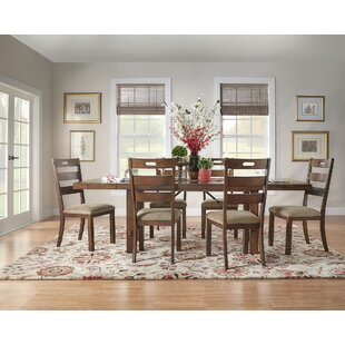 Axton 7 Piece Extendable Solid Wood Dining Set