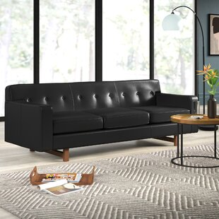 Looking for Lomonaco Leather Sofa by Mercury Row Reviews (2019) & Buyer's Guide