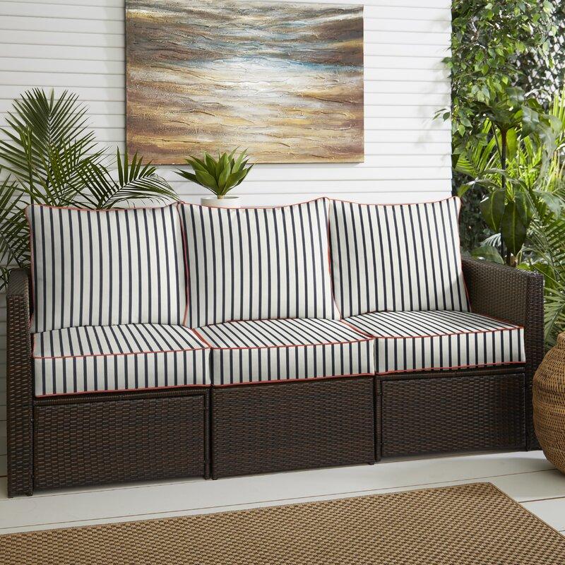 Longshore Tides Melon Pillow Indoor Outdoor Sunbrella Seat Back Cushion Wayfair
