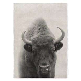 Bargain Millikan Buffalo Gray/Black Area Rug ByWrought Studio