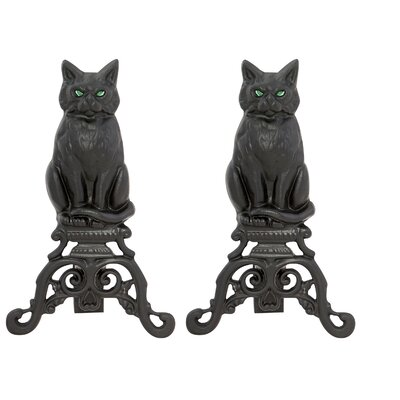 Uniflame Cat Andirons