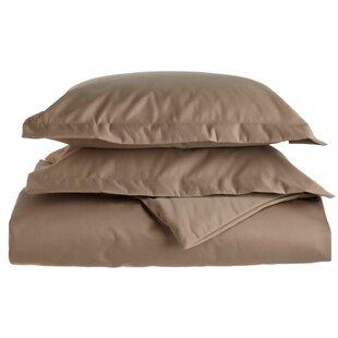 Simple Luxury Cotton 1500 Thread Count Solid Duvet Cover Set