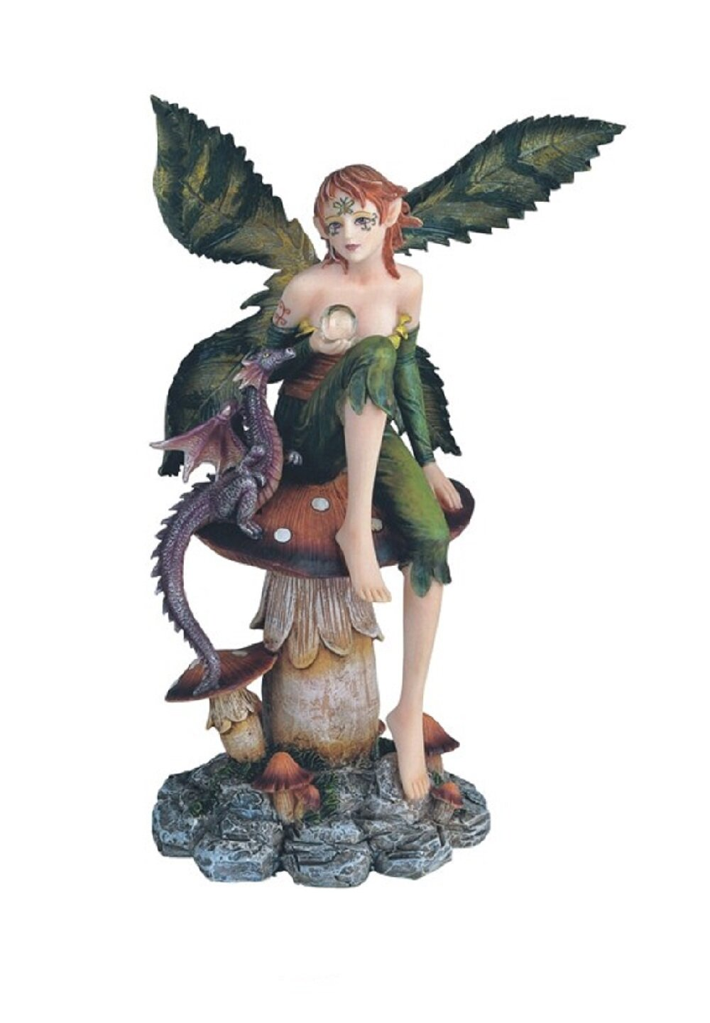 August Grove Alves Fairy On Mushroom Figurine Wayfair