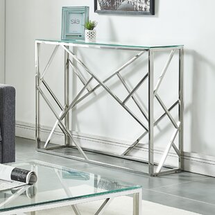House of Hampton Menard Stainless Steel Console Table