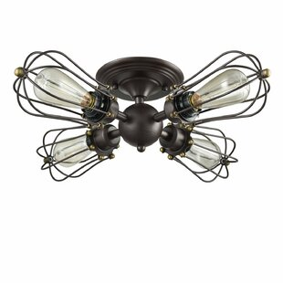 Williston Forge Gayla 4 -Light LED Semi Flush Mount