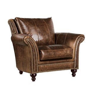 De Foix Top Grain Italian Leather Club Chair by Canora Grey