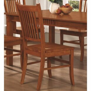 Kangas Slat Back Mission Solid Wood Dining Chair (Set of 2)