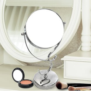 Bargain Divine Round Double Sided Magnifying Standing Makeup/Shaving Mirror By Charlton Home