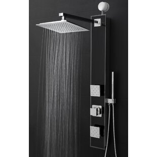 AKDY Temperature Control Rain Shower Head Shower Panel - Includes Rough-In Valve