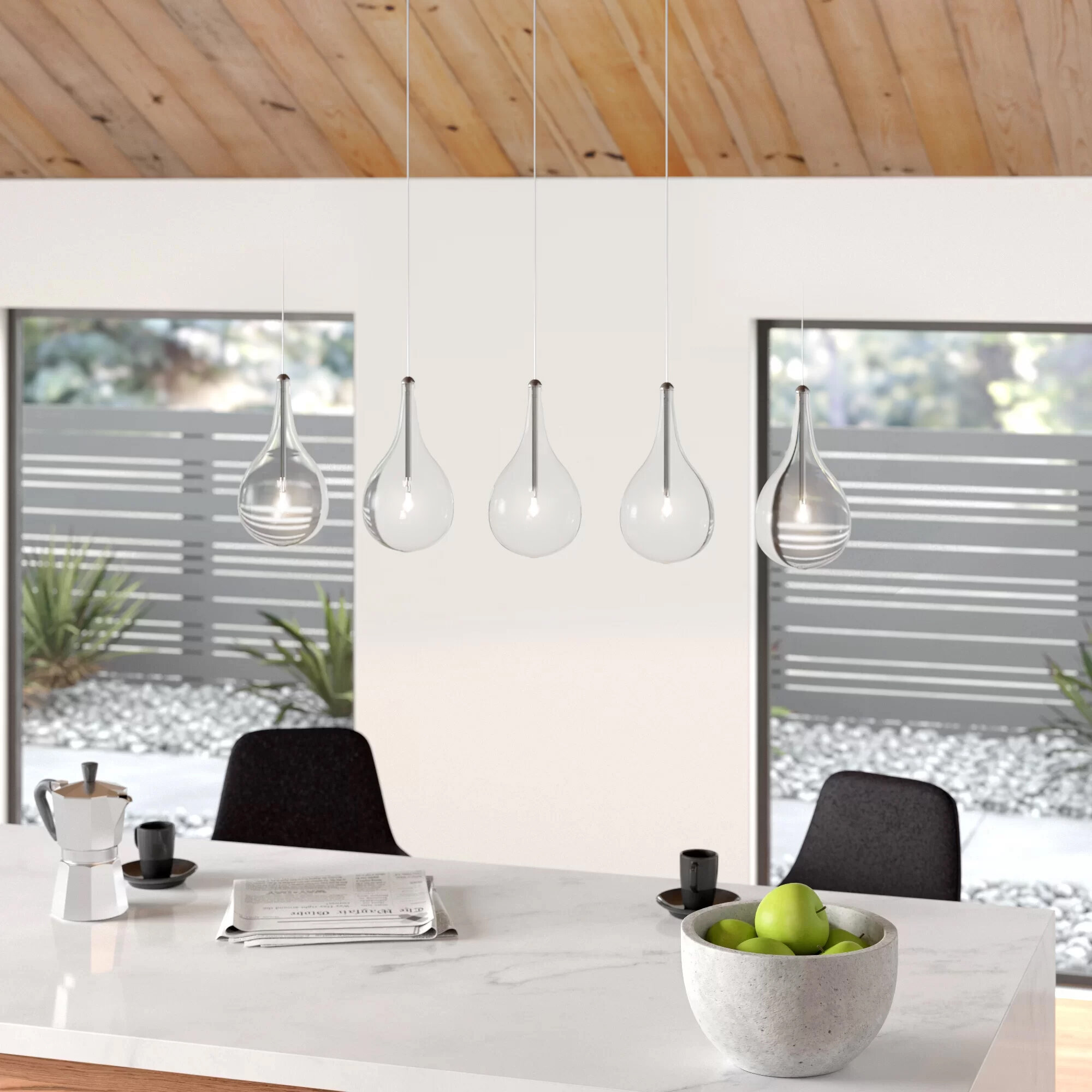 Clear Glass Shade Kitchen Island Pendant Lighting Free Shipping Over 35 Wayfair