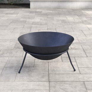 Cast Iron Charcoal/Wood Burning Fire Pit By Gardeco