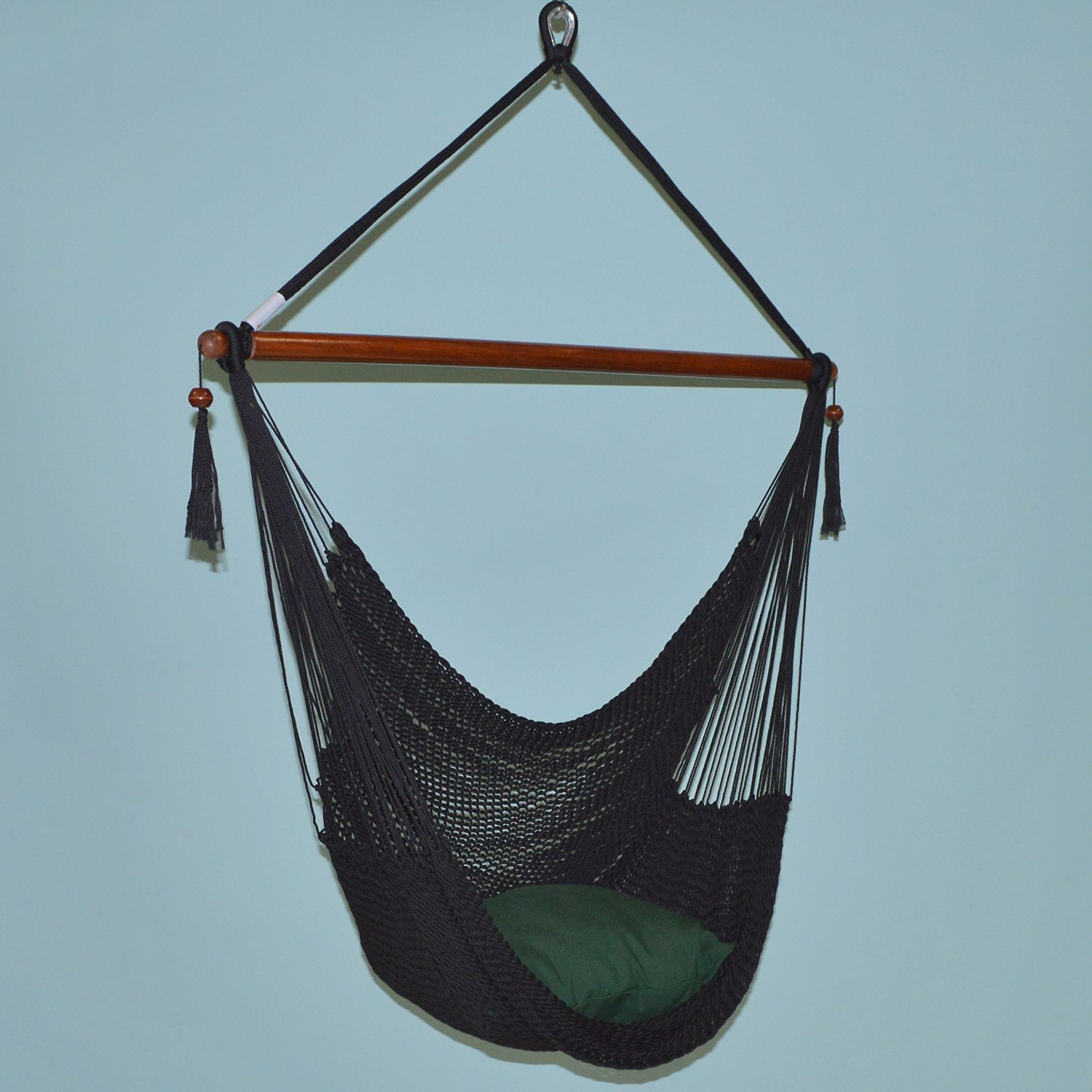 """Portable HAMMOCK Hanging CHAIR CARIBBEAN 55/"""" Porch Patio Swing BLUE Polyester"""