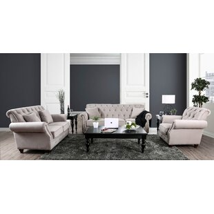 Canora Grey Warkworth Modern 3 Piece Livi..