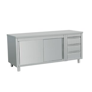 Symple Stuff Maxine Commercial Kitchen Island