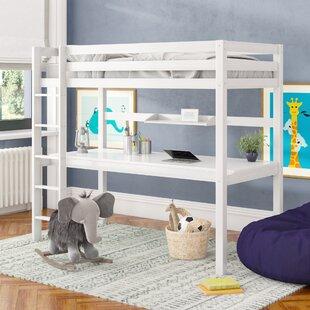 Free S&H Ethridge European Single High Sleeper Bed With Desk