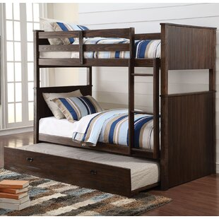 Affordable Lawerence Antique Charcoal Twin over Twin Bunk Bed by Harriet Bee Reviews (2019) & Buyer's Guide