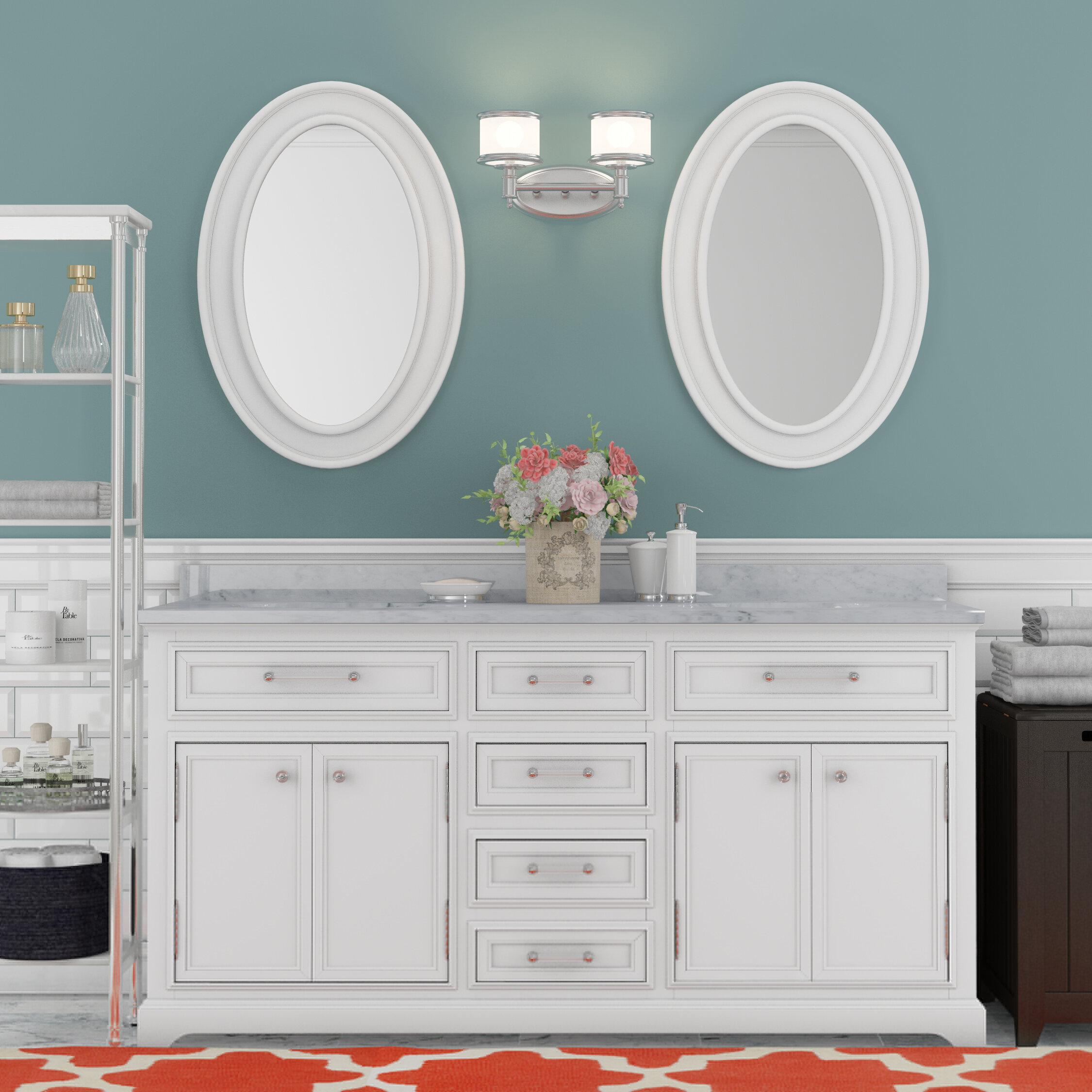 Three Posts Bergin 60 Double Sink Bathroom Vanity Set With Mirror Reviews Wayfair