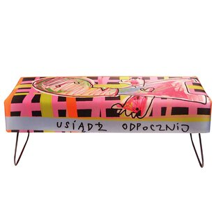 Line Art Upholstered Bench By Happy Barok