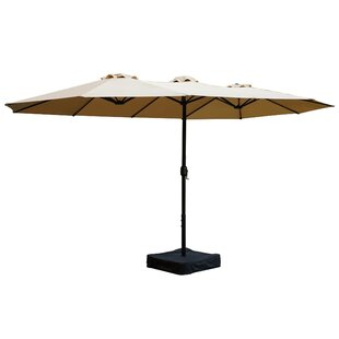 Alcott Hill Brantley 15' x 8.5' Rectangular Market Umbrella