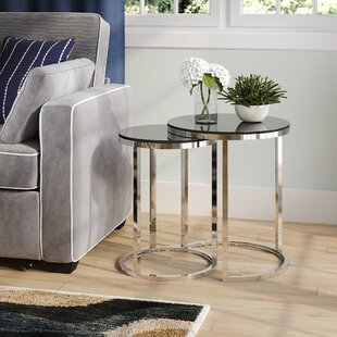 Porterfield 2 Piece Nesting Table Set by Wade Logan