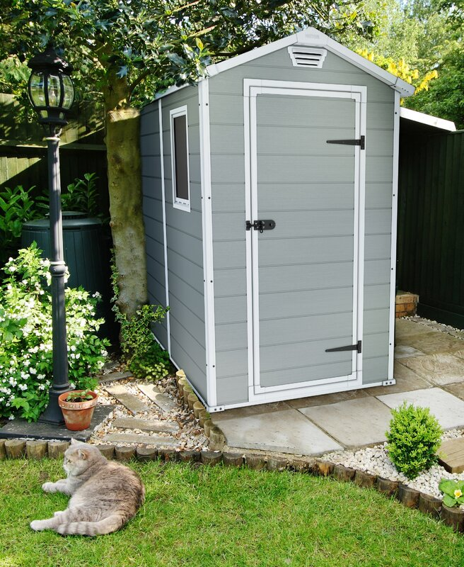 Keter Manor Ft W X Ft In D Plastic Vertical Storage Shed
