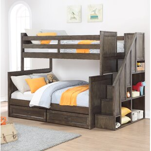 Harriet Bee Lauri Twin Over Full Bunk Bed with Drawers