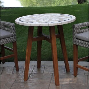 Jameson Spanish Marble Wooden Bistro Table