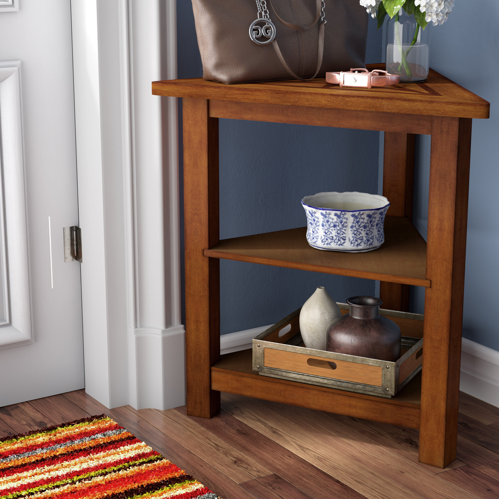 Attrayant Red Barrel Studio Heartwood Triangle End Table U0026 Reviews | Wayfair