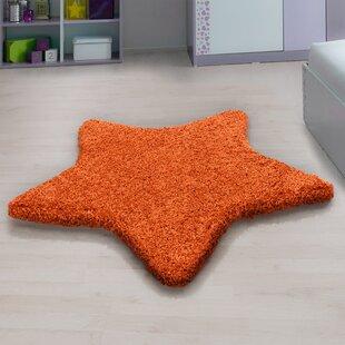Seabolt Shaggy Orange Rug By Zoomie Kids
