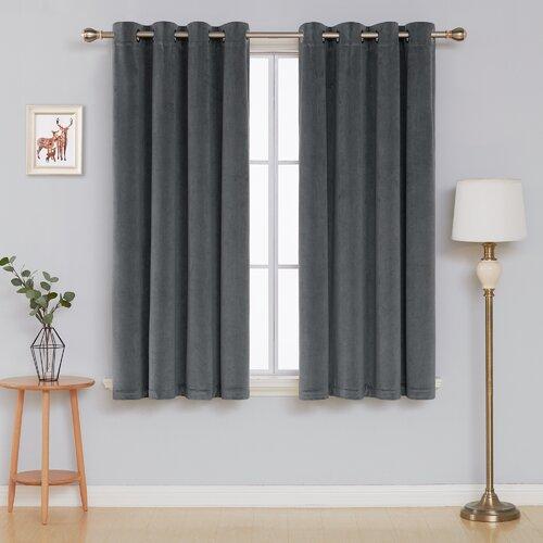 Faroe Room Darkening Thermal Curtains Ebern Designs Colour: