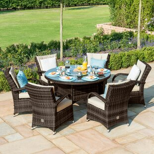 Coshocton 6 Seater Dining Set With Cushions By Sol 72 Outdoor