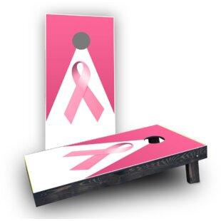 Custom Cornhole Boards Breast Cancer Awareness Light Weight Cornhole Game Set