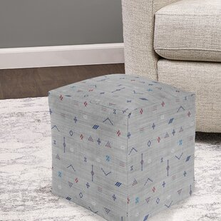 Stellan Silk Pouf by Bungalow Rose