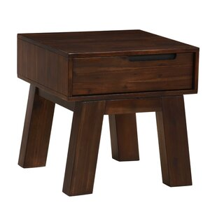 Mabery Acacia Wood End Table by Williston Forge