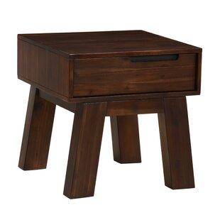 Onycha Acacia Wood End Table