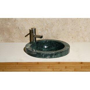 Best Reviews Stone Circular Drop-In Bathroom Sink ByAllstone Group